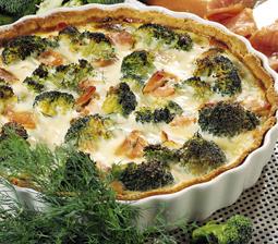 laksetærte med broccoli