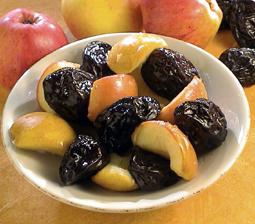 halve æbler til andesteg
