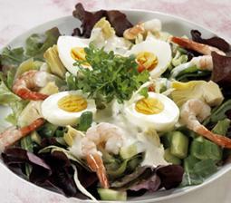 Salat Med Rejer Og æg